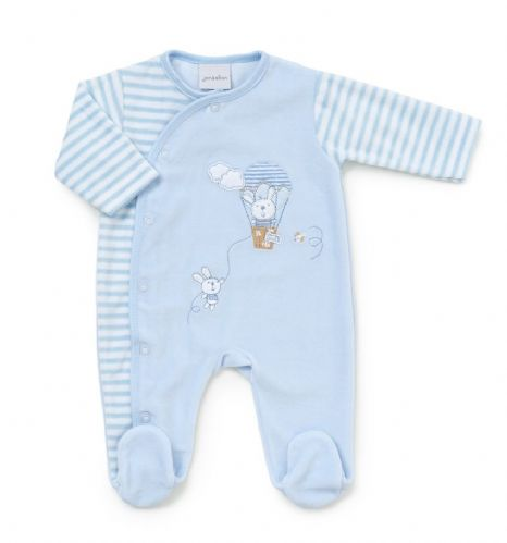 """Rabbit & Balloon"" Velour Onesie"